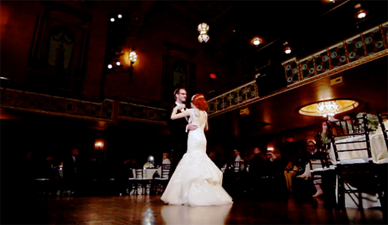 Lauren & Nick's first dance
